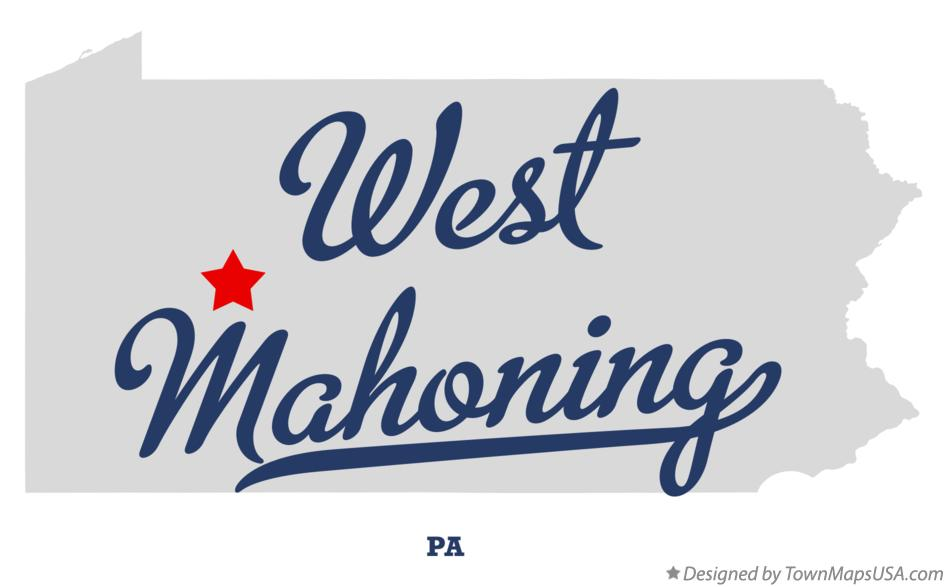 Map of West Mahoning Pennsylvania PA