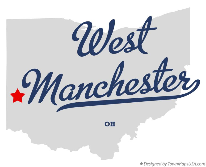 Map of West Manchester Ohio OH