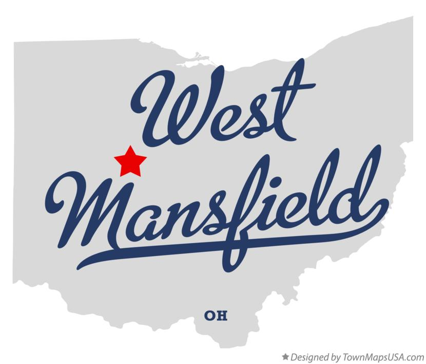 Map of West Mansfield Ohio OH