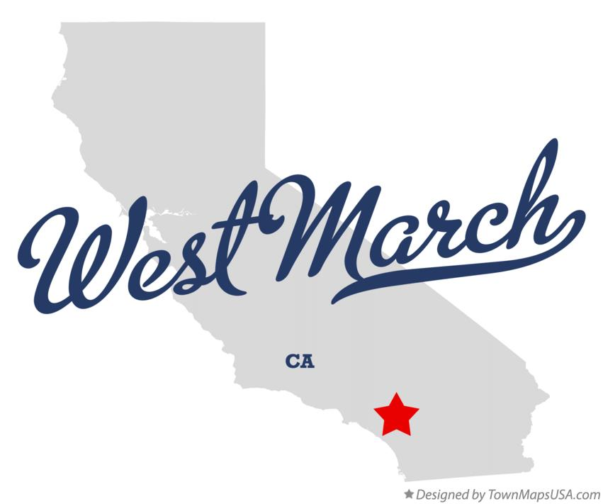 Map of West March California CA