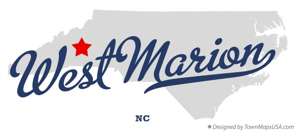 Map of West Marion North Carolina NC