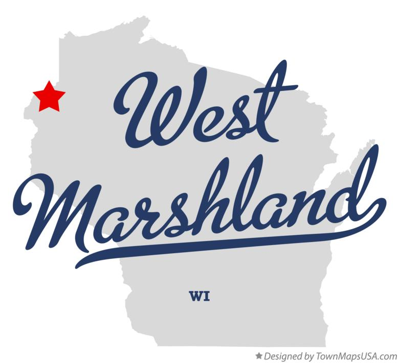 Map of West Marshland Wisconsin WI