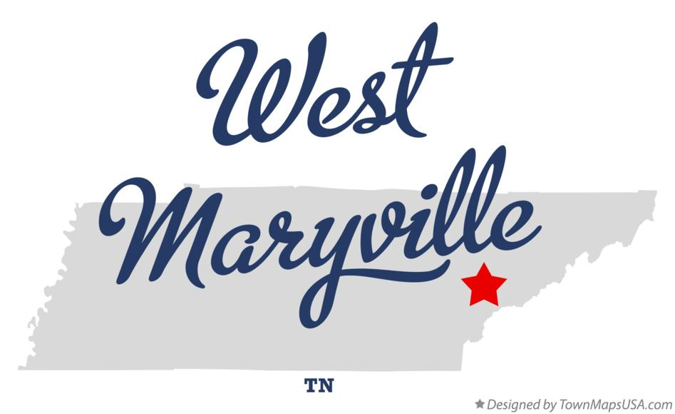 Map of West Maryville Tennessee TN