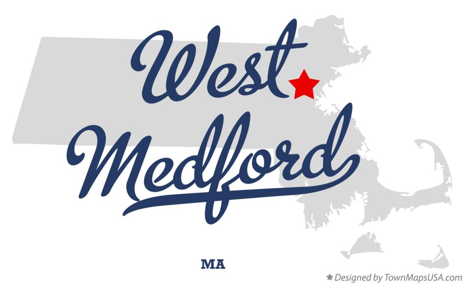 Map of West Medford Massachusetts MA