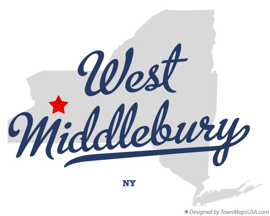 Map of West Middlebury New York NY