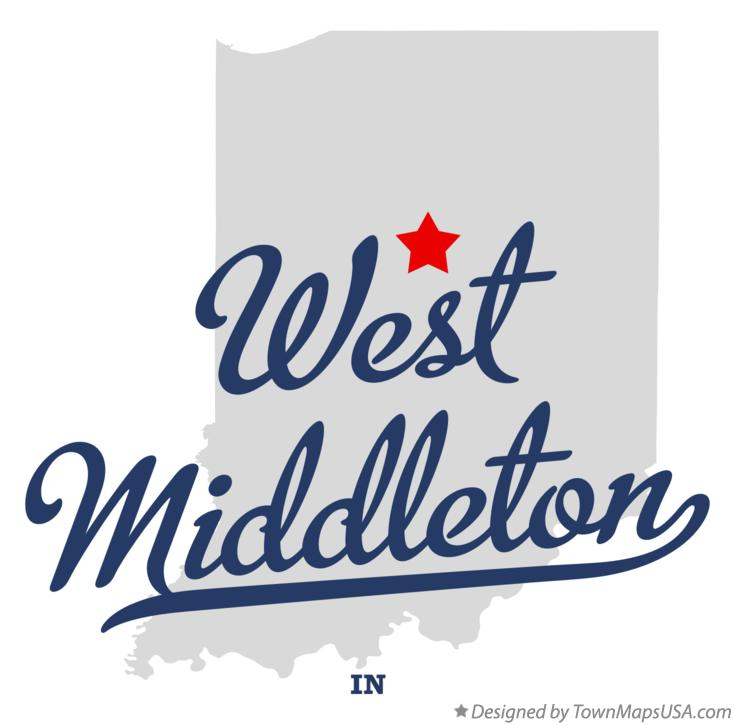 Map of West Middleton Indiana IN