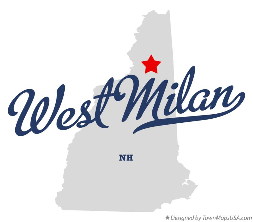 Map of West Milan New Hampshire NH