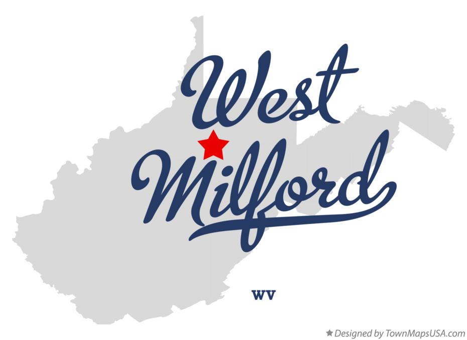 Map of West Milford West Virginia WV