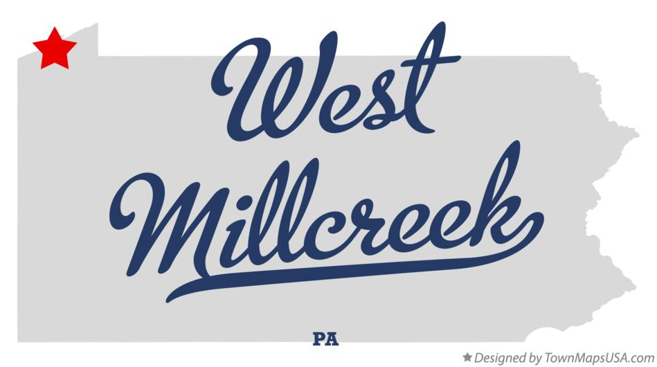 Map of West Millcreek Pennsylvania PA