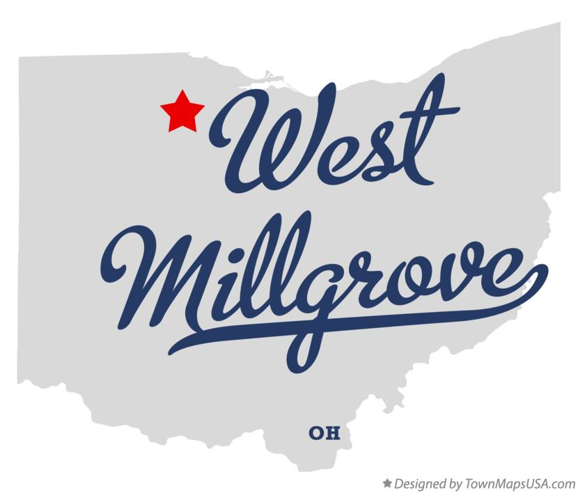 Map of West Millgrove Ohio OH