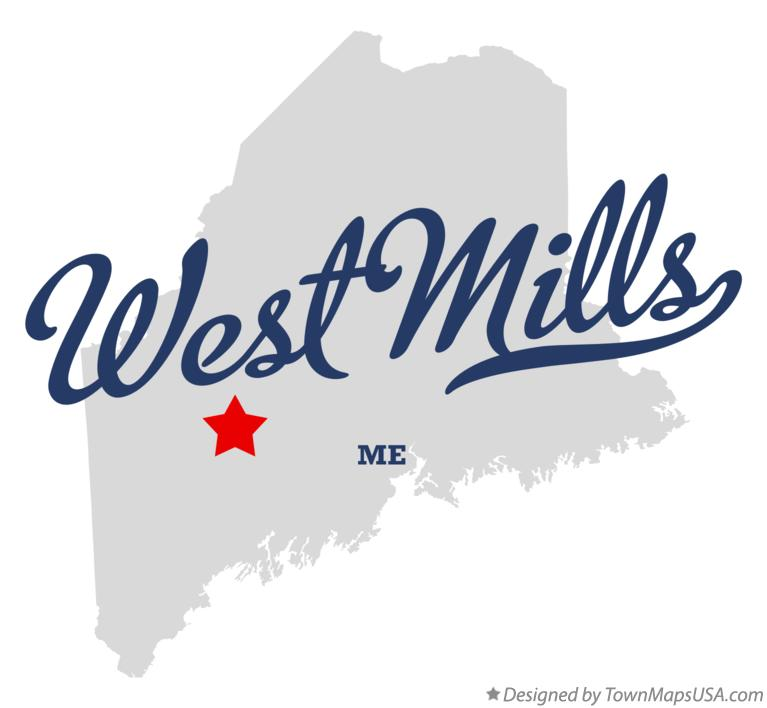 Map of West Mills Maine ME