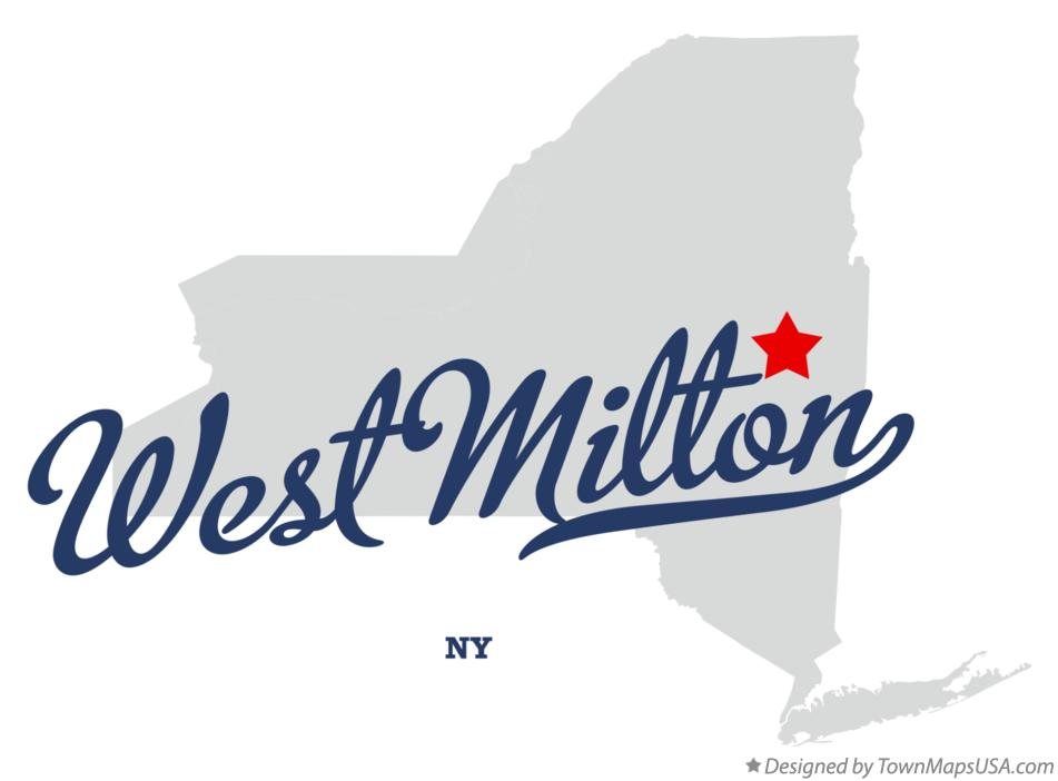 Map of West Milton New York NY