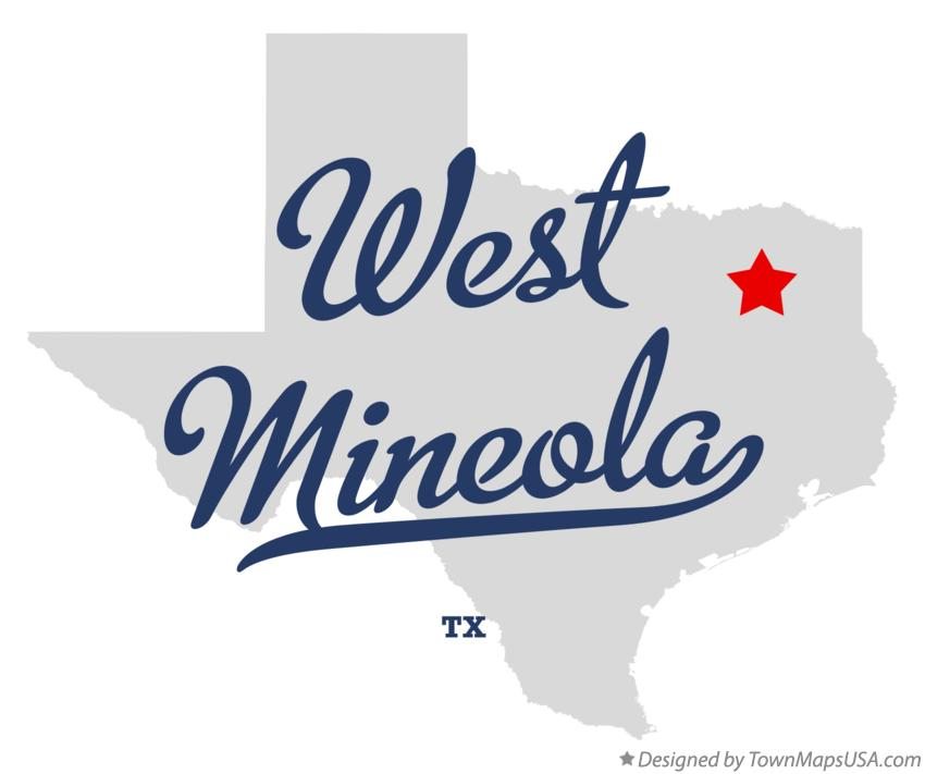 Map of West Mineola Texas TX