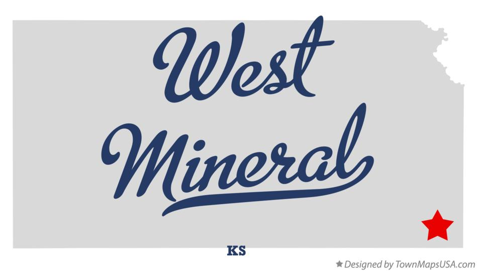 Map of West Mineral Kansas KS