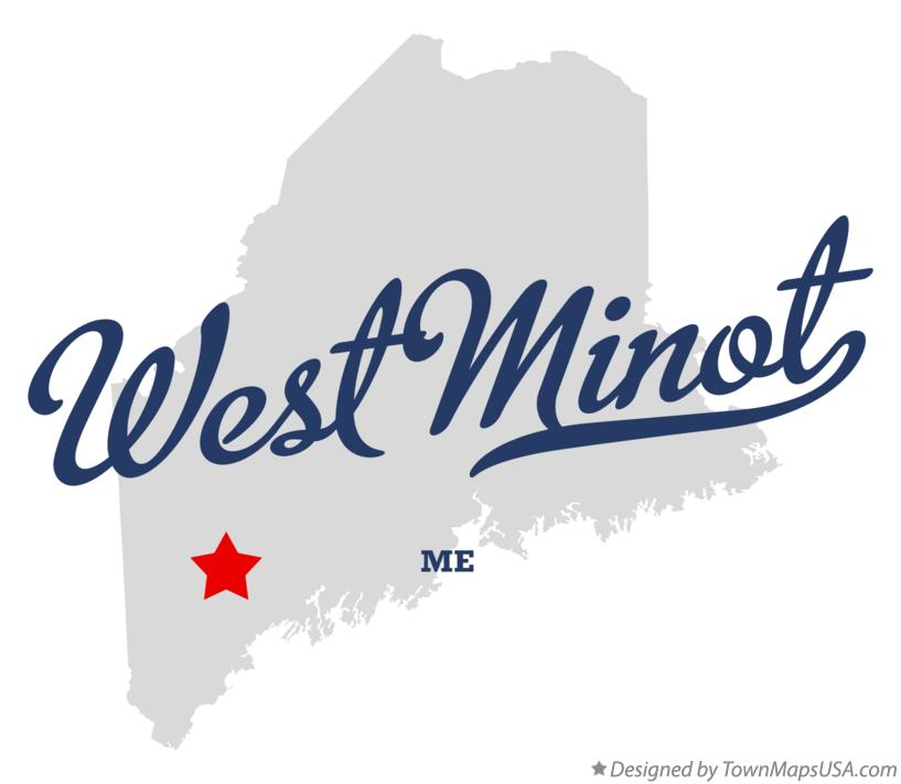 Map of West Minot Maine ME