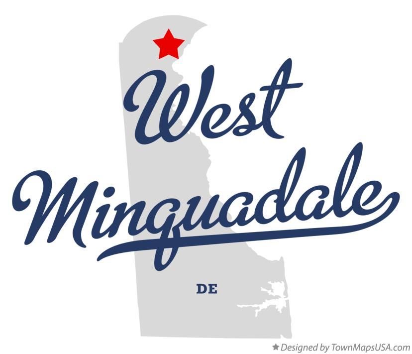 Map of West Minquadale Delaware DE
