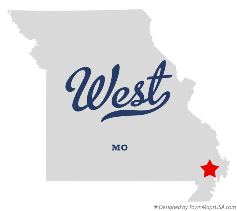 Map of West Missouri MO