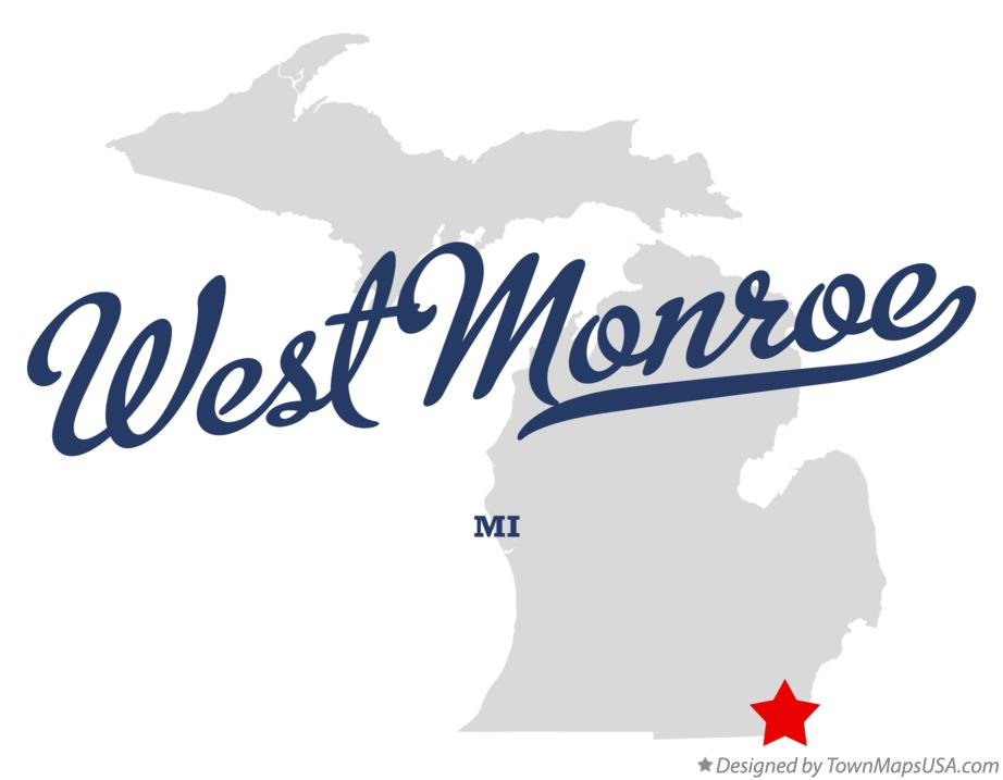 Map of West Monroe Michigan MI