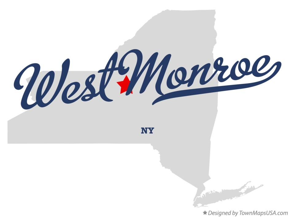 Map of West Monroe New York NY