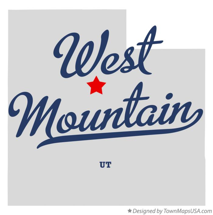 Map of West Mountain Utah UT
