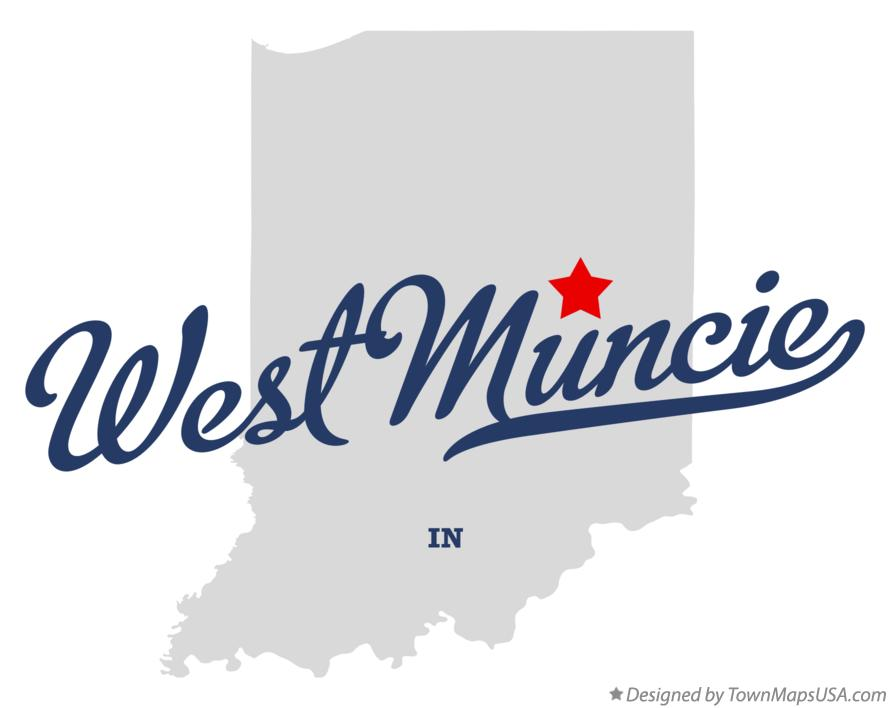 Map of West Muncie Indiana IN