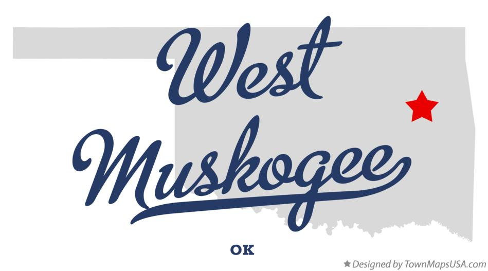 Map of West Muskogee Oklahoma OK
