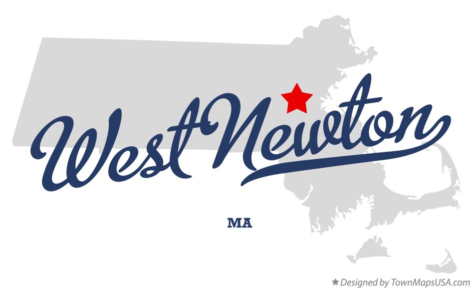 Map of West Newton Massachusetts MA