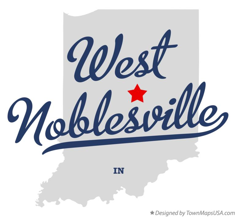Map of West Noblesville Indiana IN