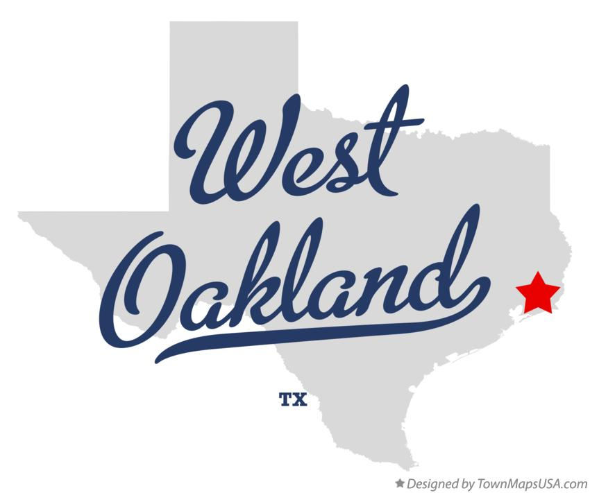 Map of West Oakland Texas TX