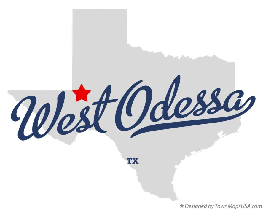Map of West Odessa Texas TX