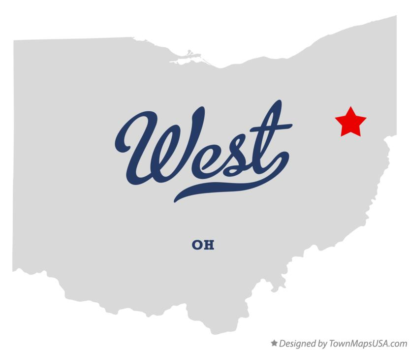 Map of West Ohio OH
