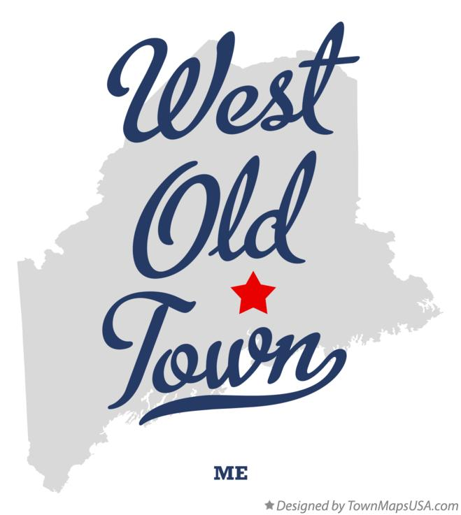 Map of West Old Town Maine ME