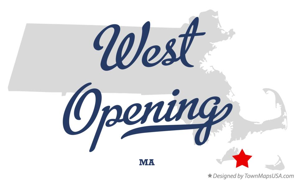 Map of West Opening Massachusetts MA
