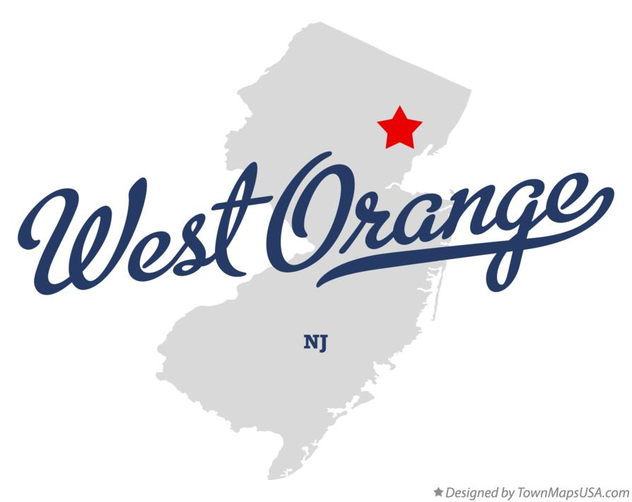 Map of West Orange New Jersey NJ