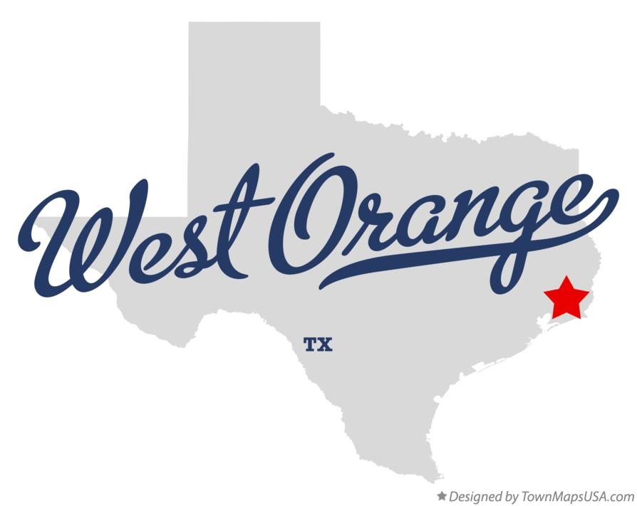Map of West Orange Texas TX