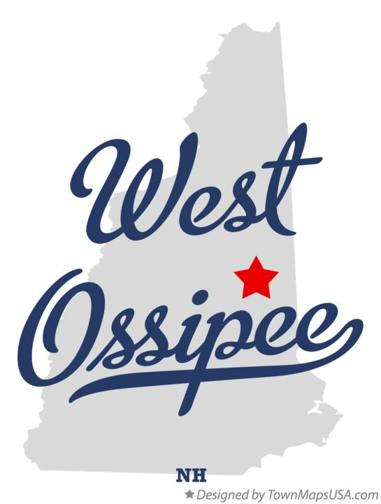 Map of West Ossipee New Hampshire NH