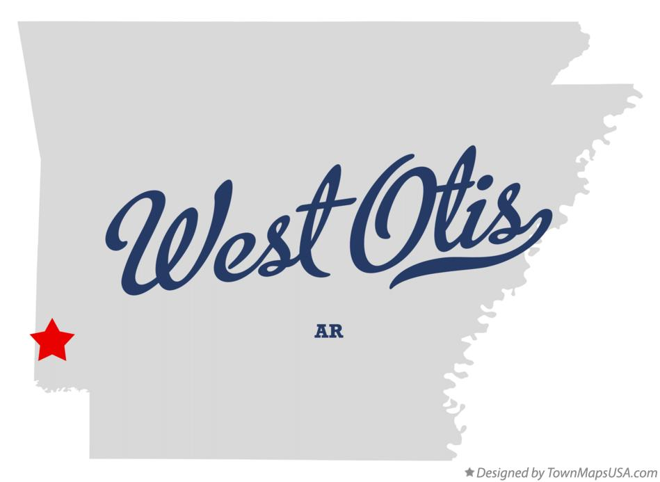 Map of West Otis Arkansas AR