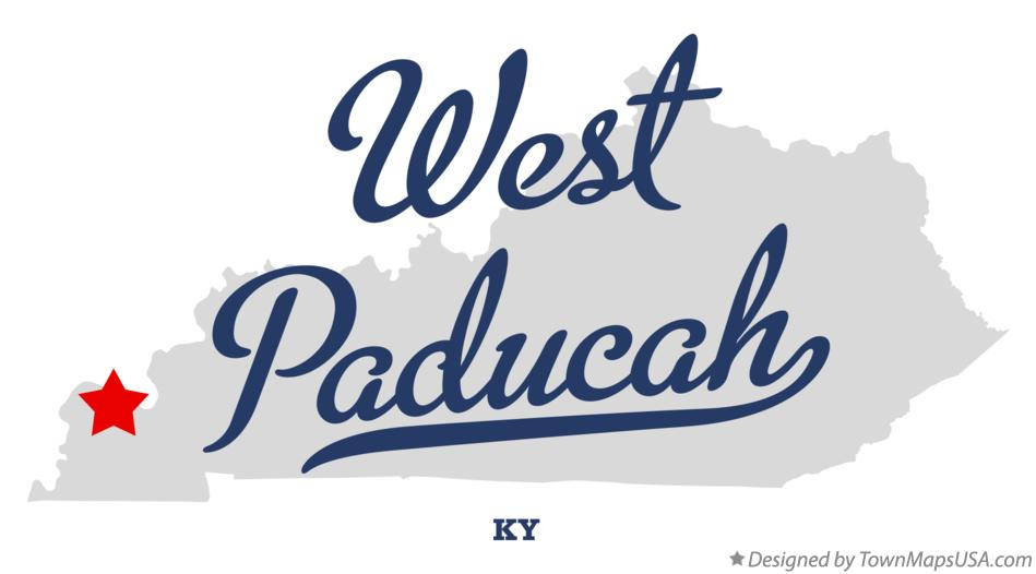Map of West Paducah Kentucky KY