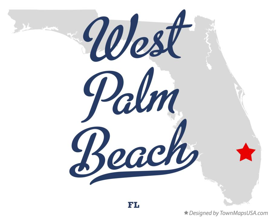 Map Of West Palm Beach Fl Florida