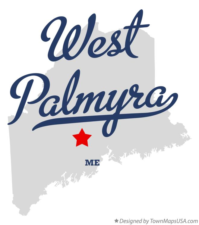 Map of West Palmyra Maine ME