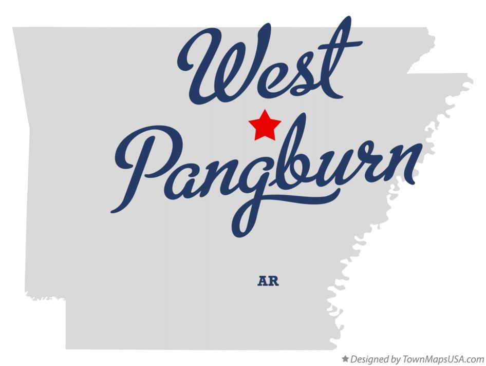 Map of West Pangburn Arkansas AR