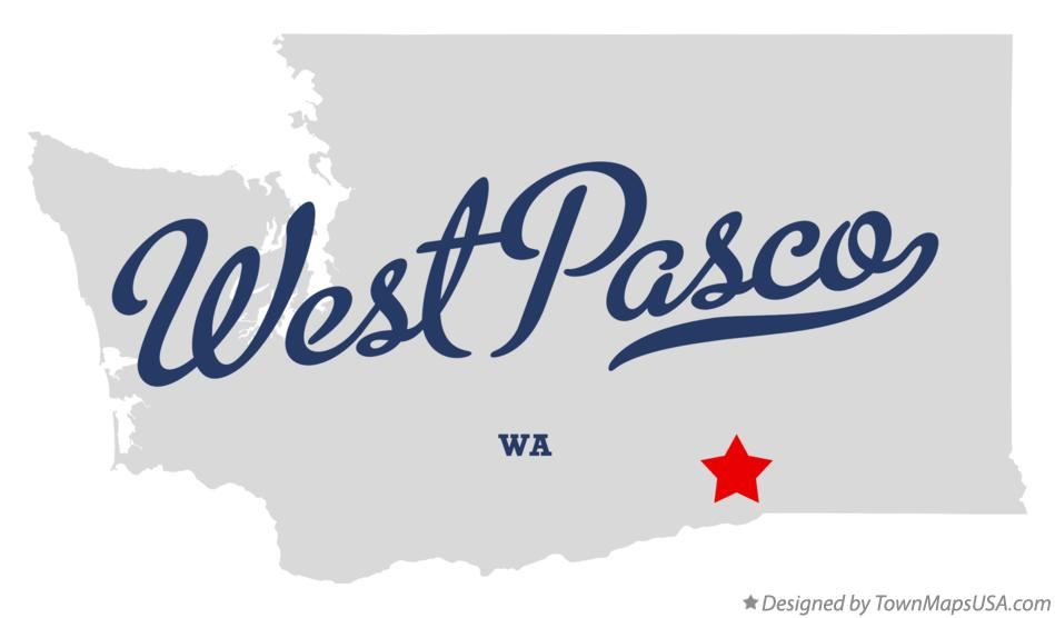 Map of West Pasco Washington WA