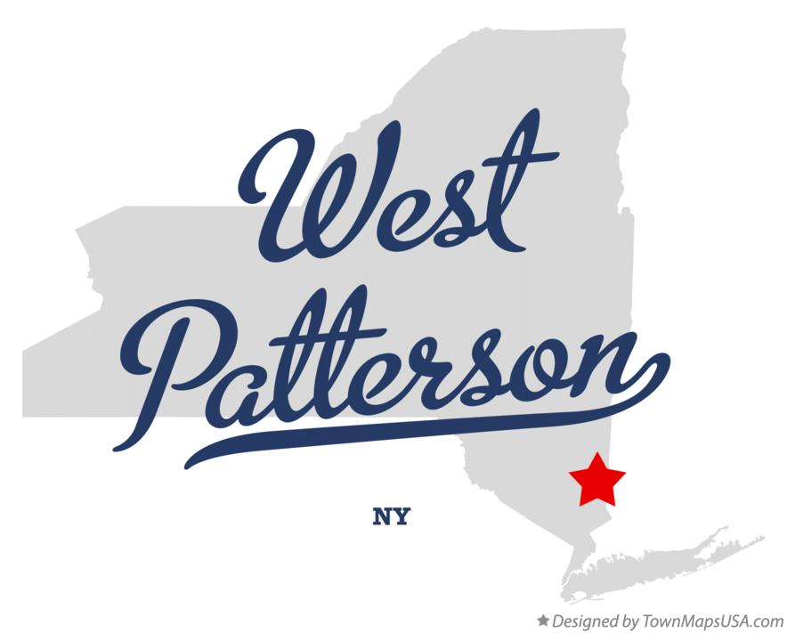 Map of West Patterson New York NY