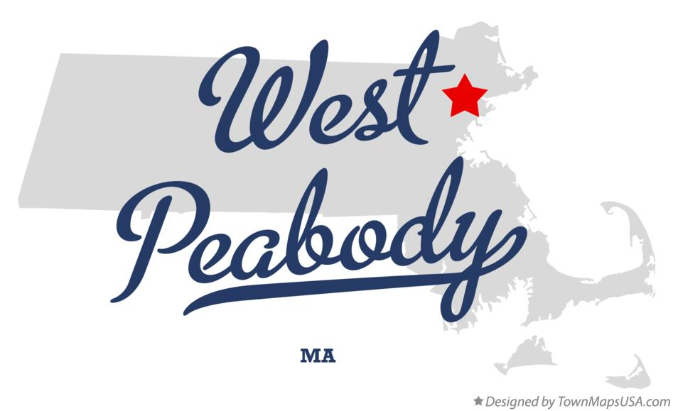 Map of West Peabody Massachusetts MA