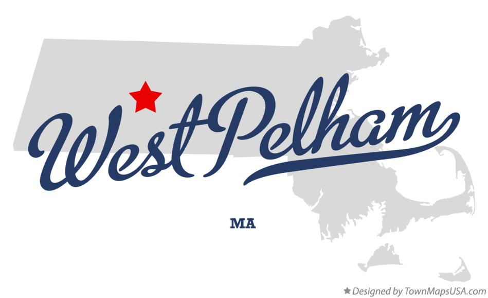 Map of West Pelham Massachusetts MA