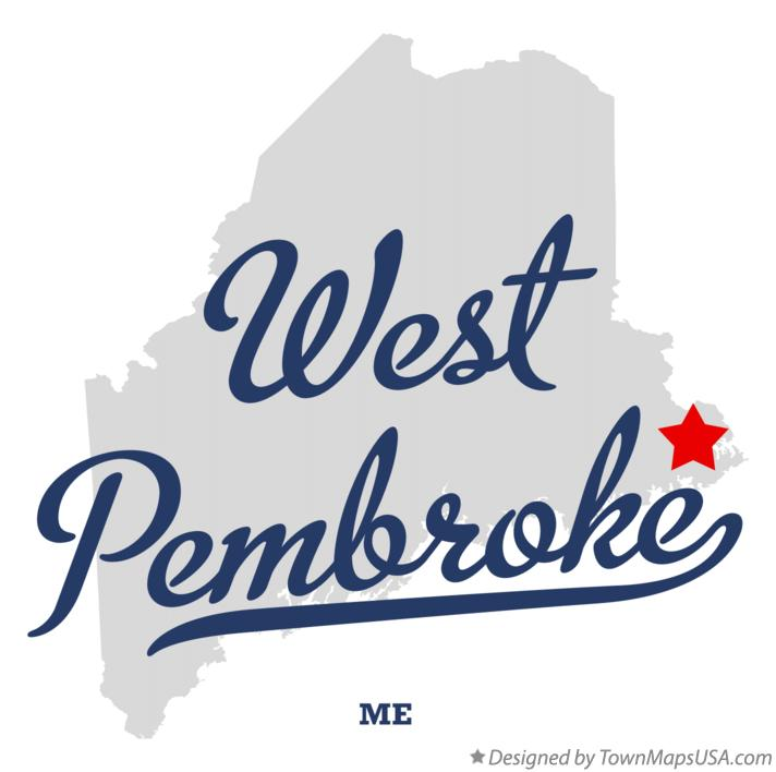 Map of West Pembroke Maine ME