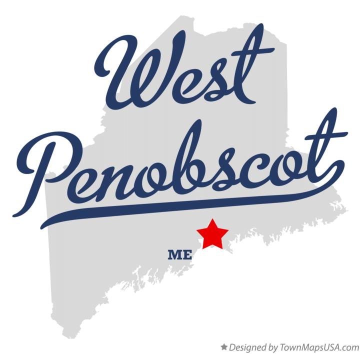Map of West Penobscot Maine ME