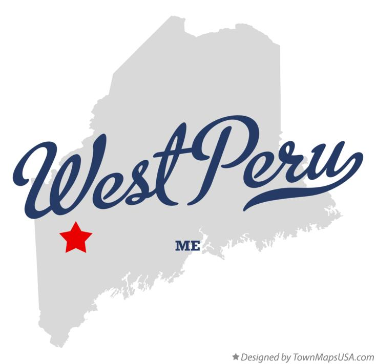 Map of West Peru Maine ME