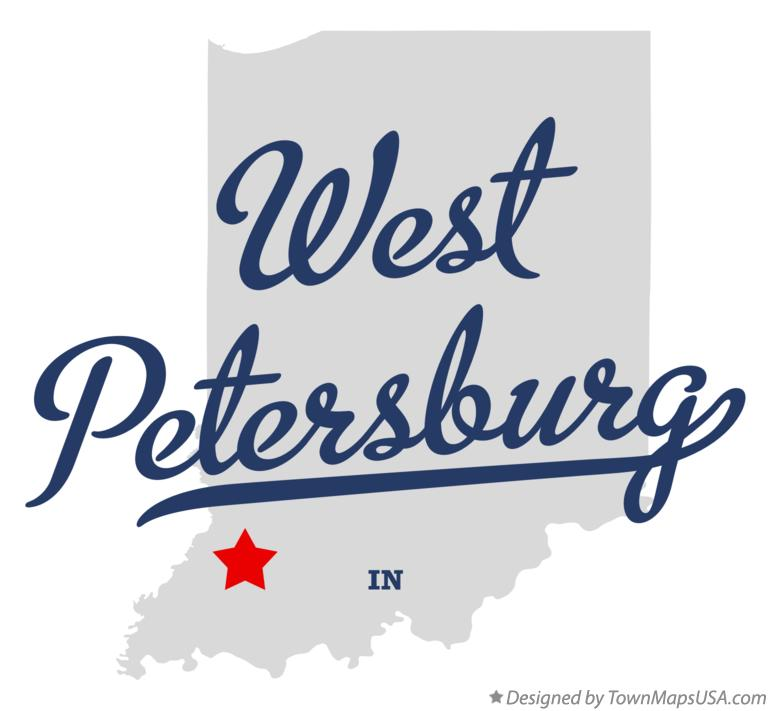 Map of West Petersburg Indiana IN