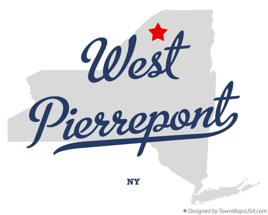 Map of West Pierrepont New York NY